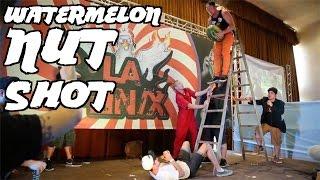 Stupid Live Stunt | Huge Watermelon Nut Shot! W/ Nub Tv & La Fênix