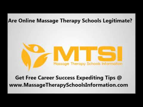 The Legitimacy of Online Massage Therapy Schools. Are They Legitimate or Scams?