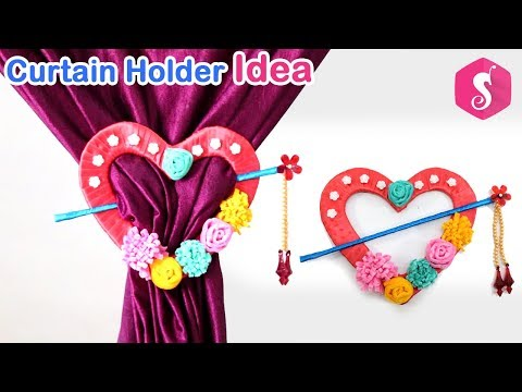 DIY Curtain Holder Craft | Best Out Of Waste Cardboard Craft | Home Decor Idea