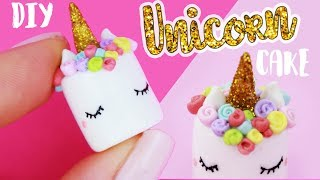 How to create an adorable mini version of a Unicorn Cake - in Polym...