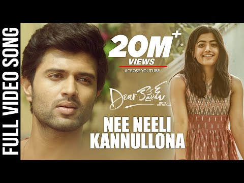 Dear Comrade Video Songs Telugu  Nee Neeli Kannullona Video Song  Vijay Deverakonda  Rashmika