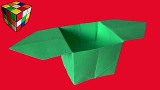 Как сделать коробочку из бумаги. Коробочка оригами своими руками. Поделки из бумаги.(Учимся рукоделию! Как сделать коробочку из бумаги! Бумажная коробочка оригами своими руками! Всё поэтапно..., 2016-04-28T15:00:02.000Z)