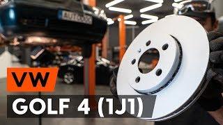 aizmugurē un priekšā Bremžu diski uzstādīšana VW GOLF IV (1J1): bezmaksas video