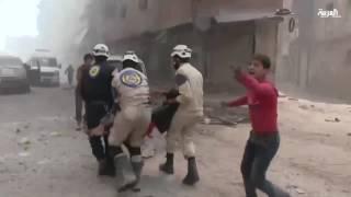 حلب السورية تحت نيران قوات الأسد