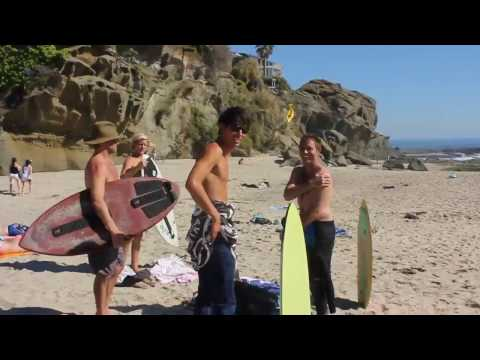 Skimboarders going off at Aliso Creek!