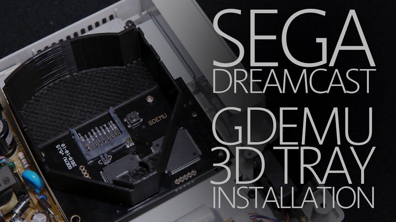 Sega Dreamcast 3D Printed Tray Install for GDEMU - Quick & Easy! (4K60)