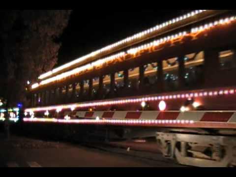 the 2010 santa cruz holiday lights train 12 23 10