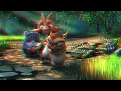 Big Buck Bunny Full Color Anaglyph 3D Red-Blue Glasses 1080p