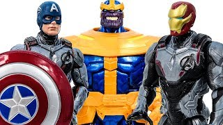 Thanos Lose~ Avengers Iron-Man & Captain America Appeared Defeat Thanos #Toymarvel