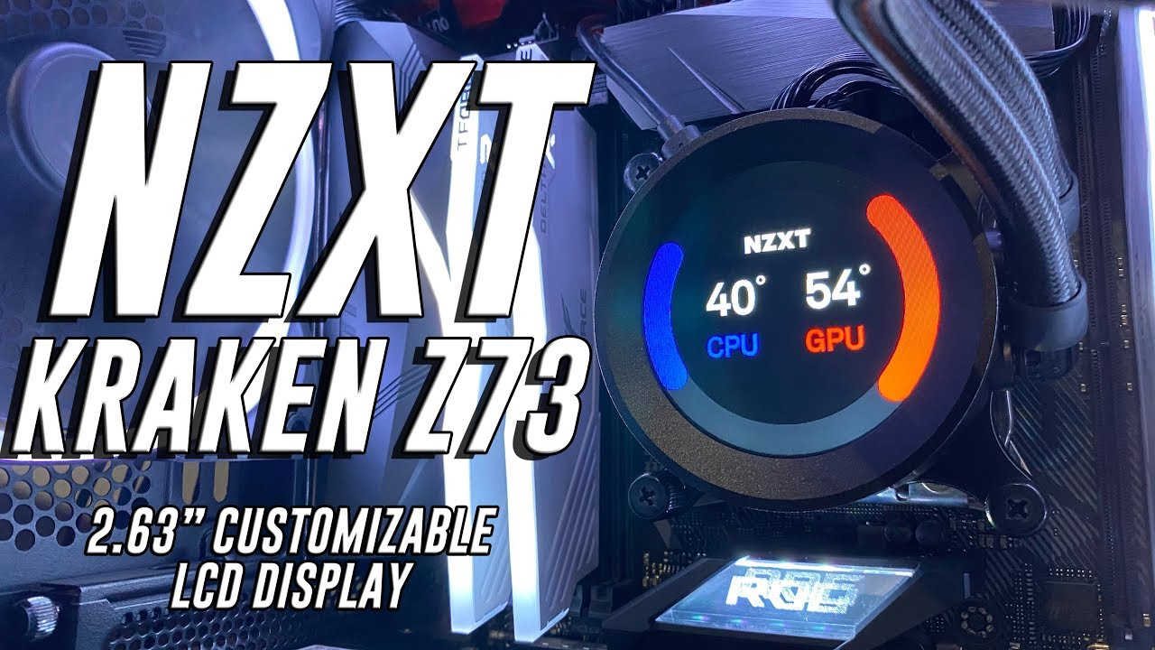 NZXT KRAKEN Z73 w/ full customizable LCD Display - review 16