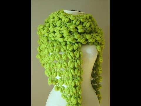 Crochet Scarf Patterns Youtube : how to crochet scarf, shawl free pattern. - YouTube