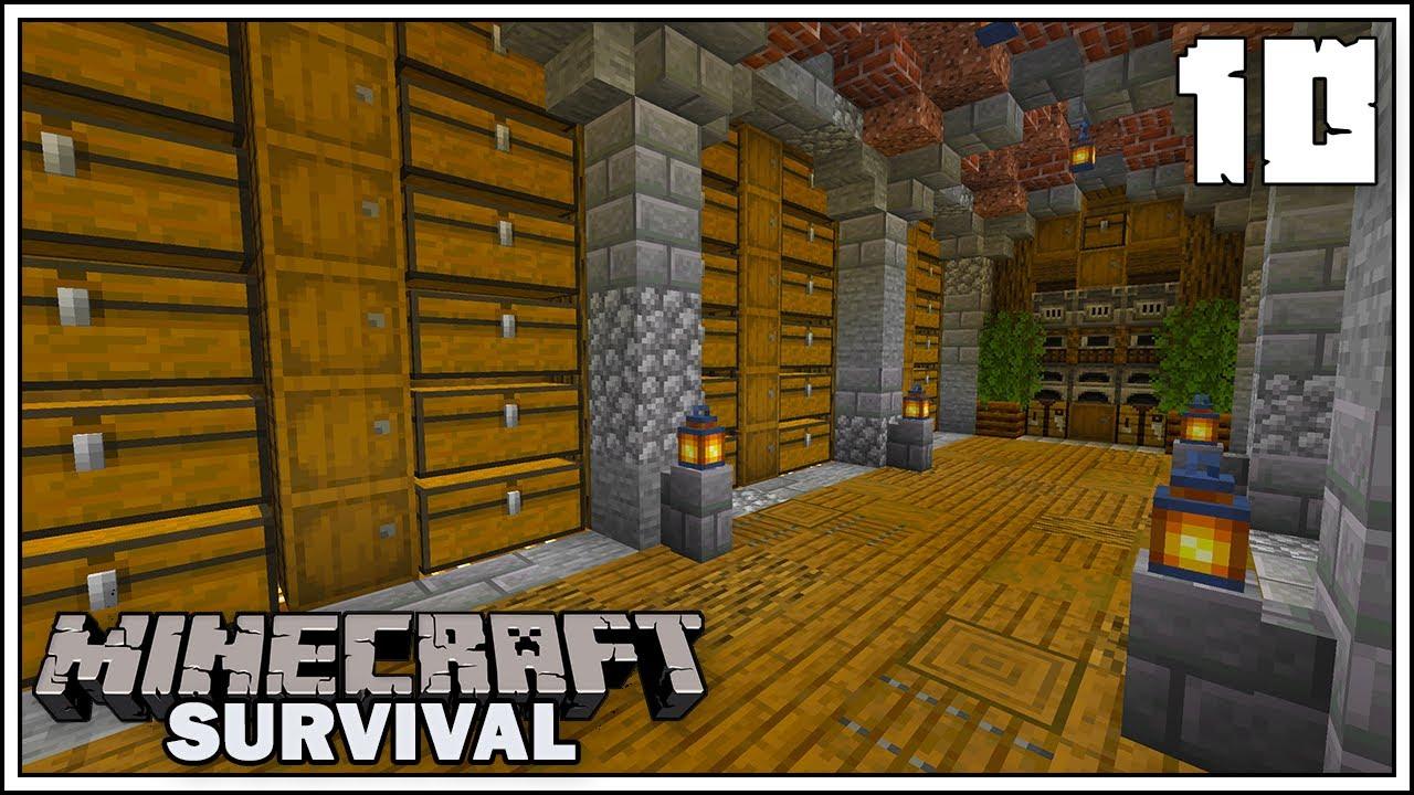Underground Storage Room Episode 10 Minecraft 1 15 Survival Let S Play Youtube