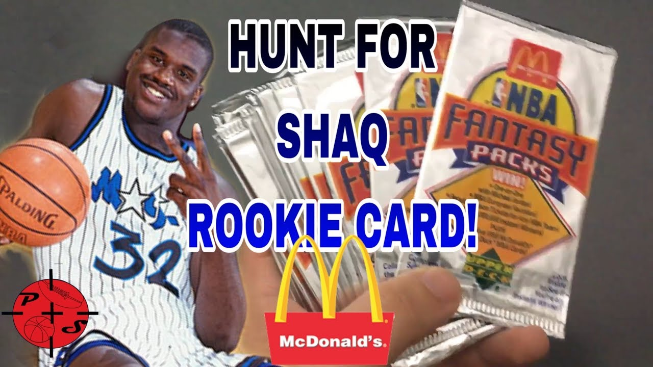 Hunt For Shaq Rookie Card Opening Mcdonalds 1992 1993 Nba Basketball Card Packs
