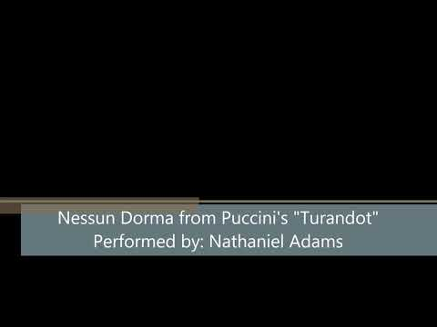 Nathaniel Adams sings Puccini's Nessun Dorma from Turandot