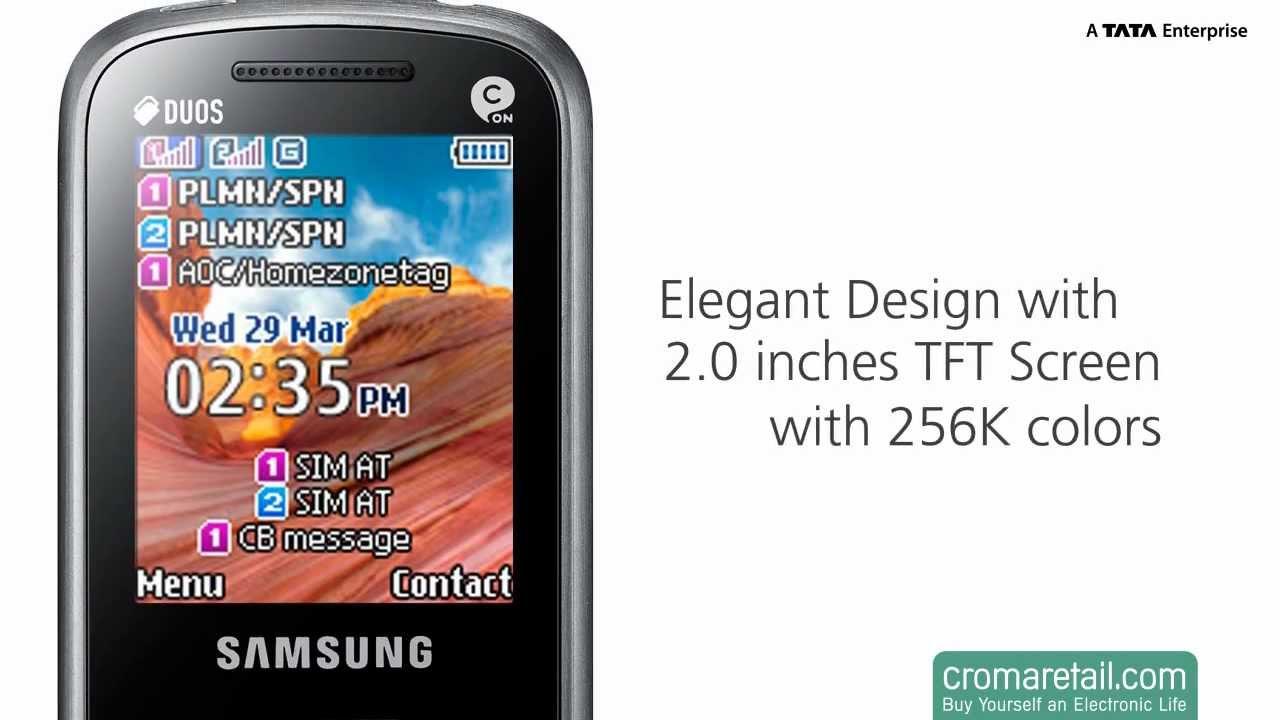 Samsung C3322 - видеообзор ( c3322 duos ) от Video-shoper.ru - YouTube