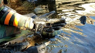 River Treasure Hunting with DALLMYD | Jake Found a Gun! (Police Called)