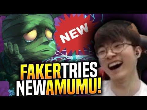 FAKER Picks NEW AMUMU BUFFS and SEEMS BROKEN! - When Faker Picks Amumu Jungle! | SKT T1 Replays