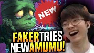 FAKER Picks NEW AMUMU BUFFS and SEEMS BROKEN! - When Faker Picks Amumu Jungle!   SKT T1 Replays