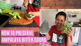 HOW TO PRESERVE BITTER GOURD| How to Prepare Bitter Melon, Bitter Gourd or Ampalaya for Freezing