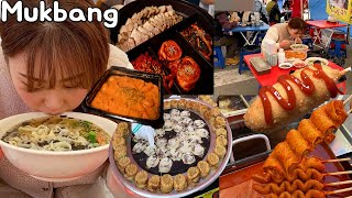 Mukbang | Street food in the Five-day Market! 🥧 Bossam & Tteokbokki, etc 😋