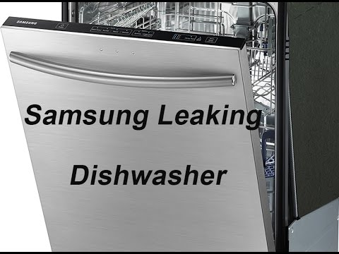 Updated Leaking Samsung Dishwasher Dmt800rhb Youtube