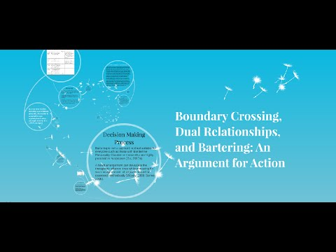 Boundary Crossing, Dual Relationships, and Bartering: An Argument for Action