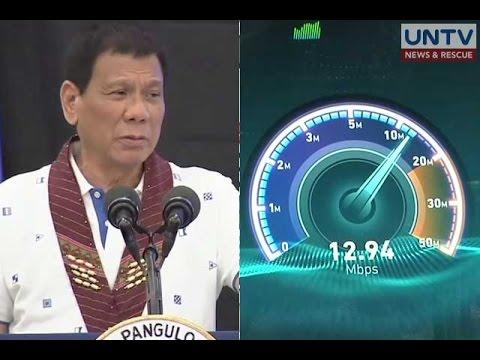 Pang. Duterte, binalaan ang mga telco na ayusin ang serbisyo