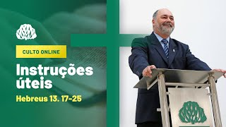 IPB Joinville - Culto - 16/08/2020 - Instruções Úteis
