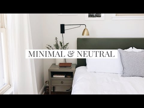 How to Style a Minimal & Neutral Bedroom