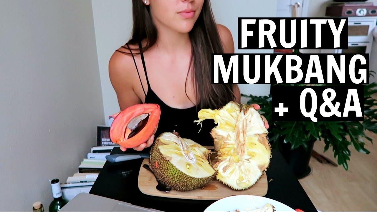 EXOTIC FRUIT MUKBANG || Mamey, Jackfruit, Sapodilla, Lychee (and a Q&A!)