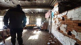 После мародеров Деревенский дом в нежилой деревне