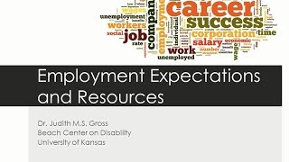 Employment Expectations and Resources for People with Disabilities, Including Autism