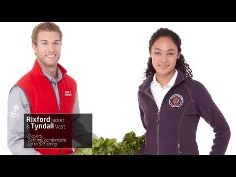 Rixford Polyfleece Jacket & Tyndall Polyfleece Vest - Promotional Fleece Jackets by Promotions Now