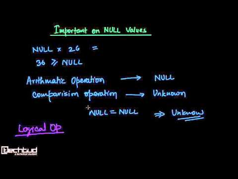 Important Concepts On NULL Values