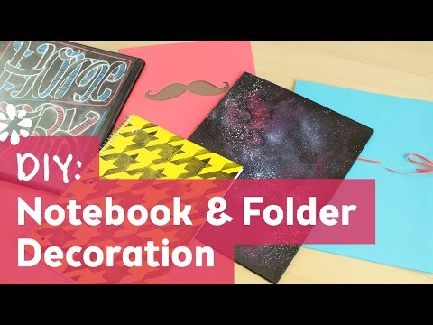 DIY Back to School Notebook & Folder Decoration   Sea Lemon