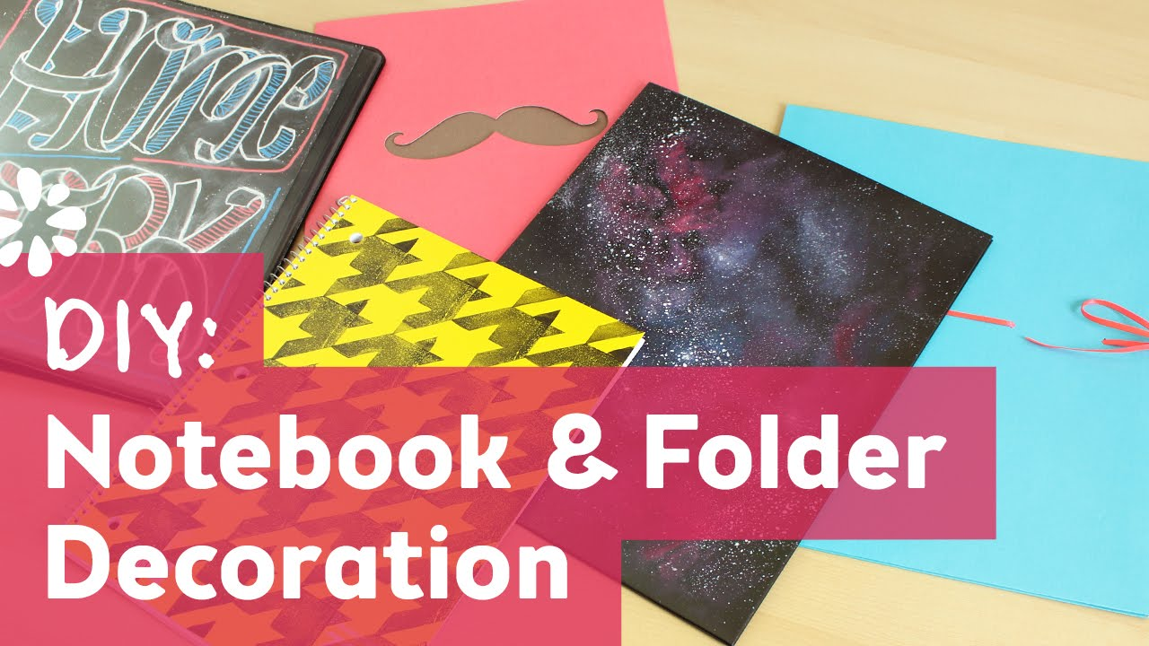 Diy back to school notebook folder decoration sea for Back to school notebook decoration ideas