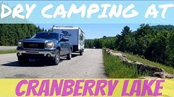 Cranberry Lake State Park Dry Camping in NY / RV Living Full Time