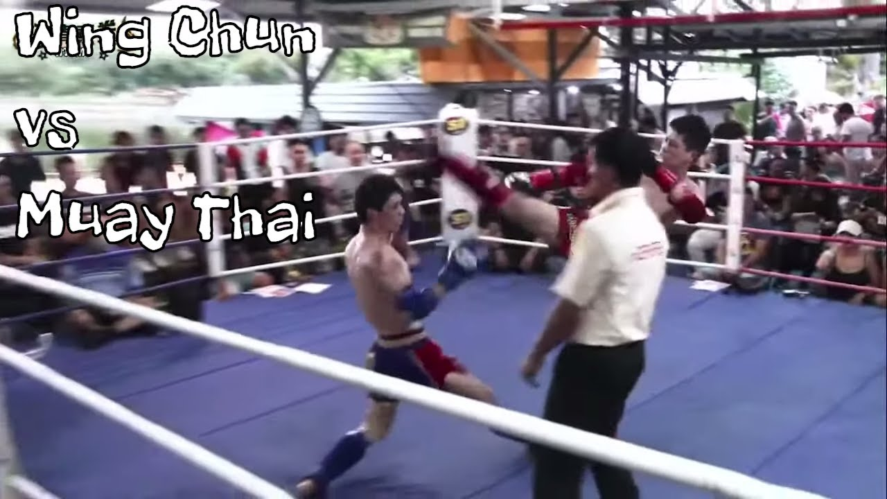 Qi La La Wing Chun vs Heavier Muay Thai Champion