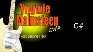 Yngwie Malmsteen Rock Ballad Backing Track 63 Bpm Highest Quality
