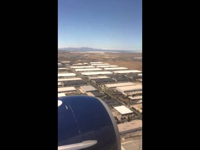 Nice Landing into sunny Salt Lake City