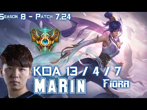 MaRin FIORA vs SION Top - Patch 7.24 KR Ranked