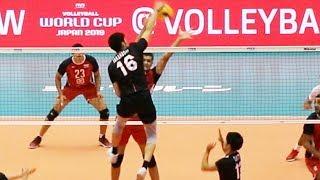 日本vsエジプト 第1セット 男子バレーボール2019