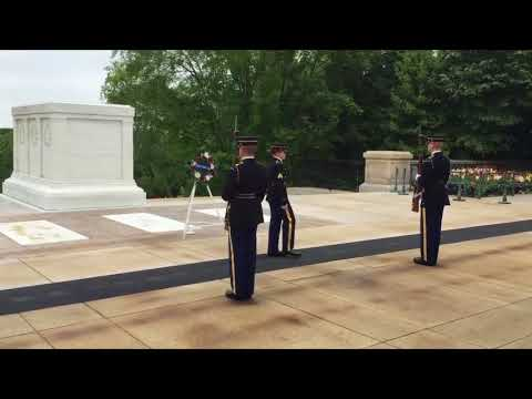 Female Leader ~ Changing of Guard Tomb of Unknown Soldier