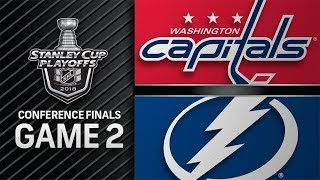 NHL 18 PS4. 2018 STANLEY CUP PLAYOFFS EAST FINAL GAME 2: CAPITALS VS LIGHTNING. 05.13.2018. (NBCSN)!
