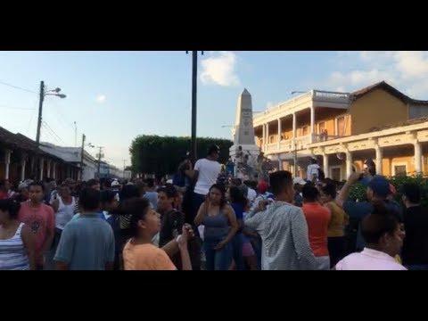 Protestas contra reformas al Inss en Granada