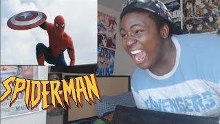 marvel s captain america civil war trailer 2 reaction   spiderman is here