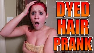 DYEING MY GIRLFRIENDS HAIR RED PRANK!
