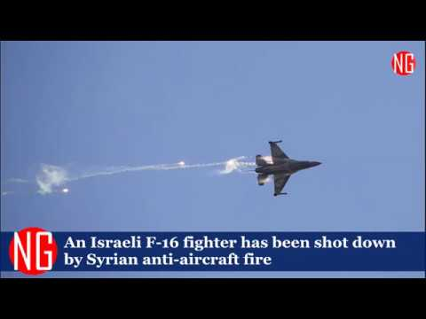Israeli F-16 Jet Has Been Shot Down By Syrian Anti-Aircraft Fire