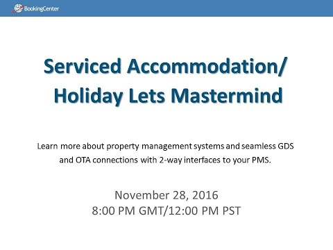 WEBINAR: Serviced Accommodation / Holiday Lets Mastermind