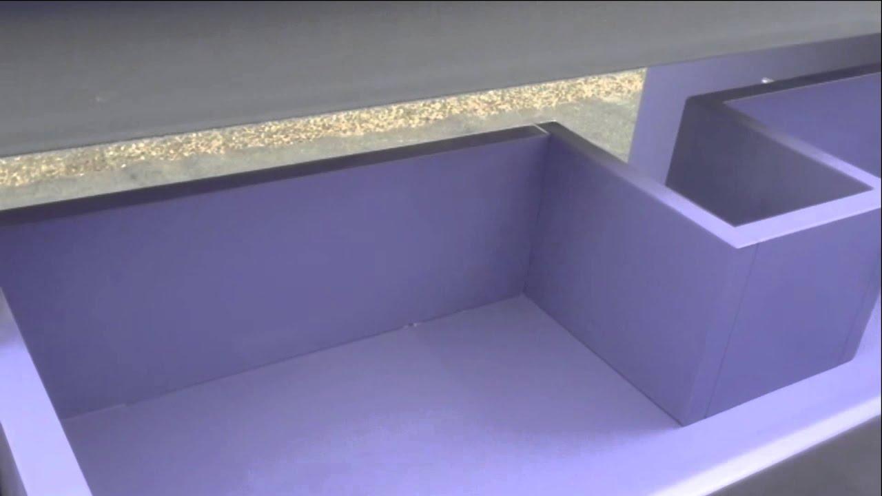 Meuble salle de bain laqu bleu violet bravo 80cm youtube - Meuble salle de bain violet ...